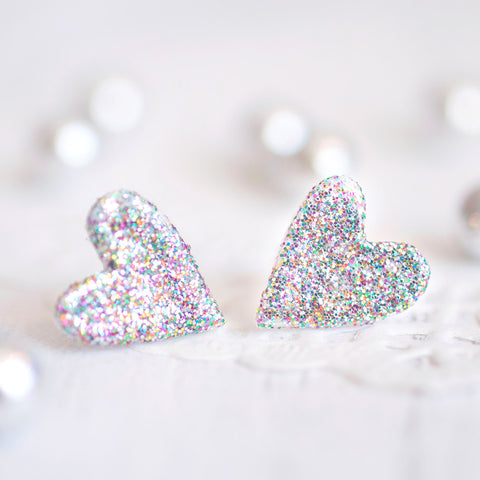 Heart Glitter Earrings