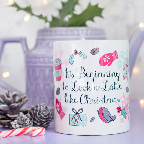 Latte like Christmas Quote Mug
