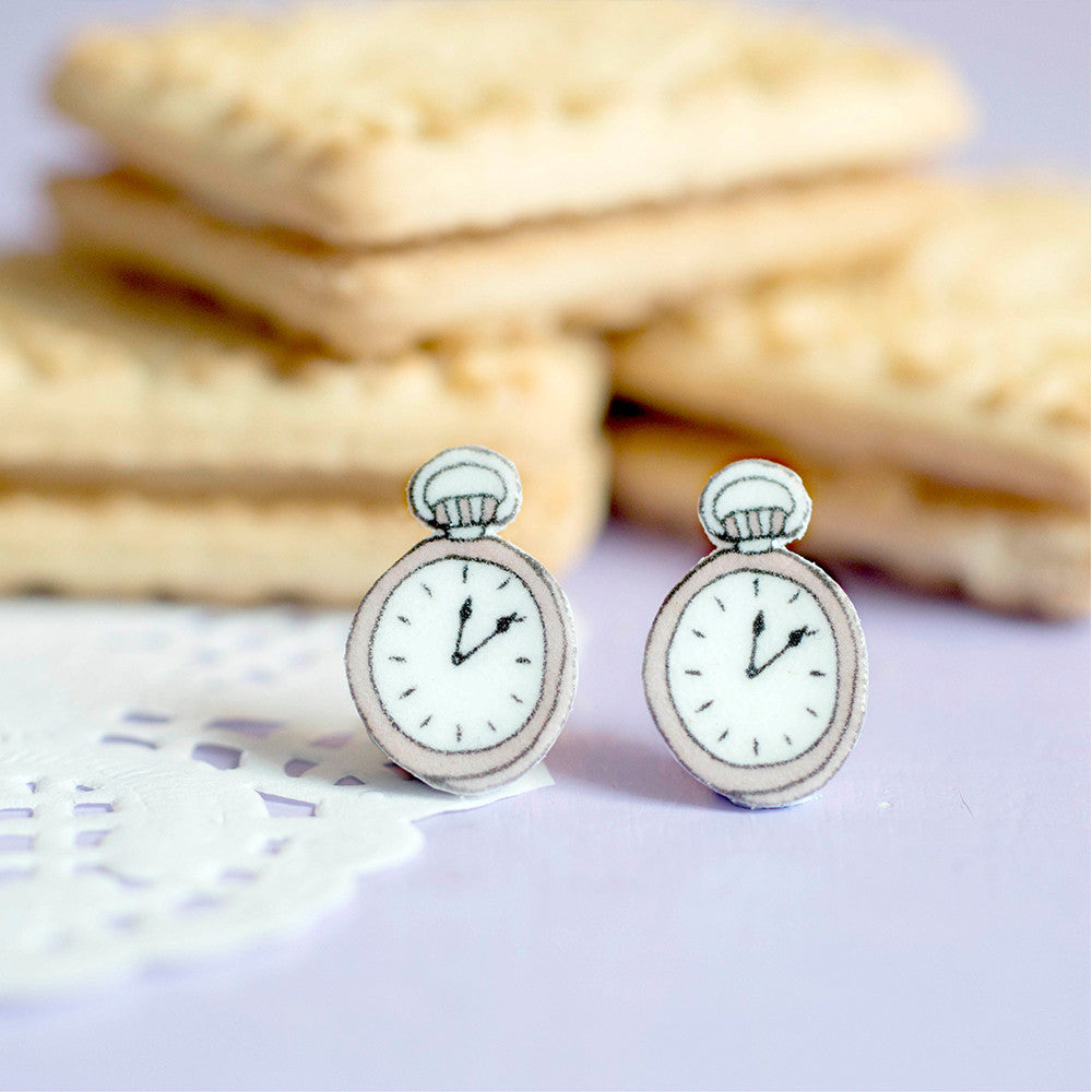 Pocket Watch Earrings