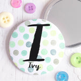 Dots Personalised Pocket Mirror