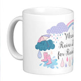 Look for Rainbows Quote Mug