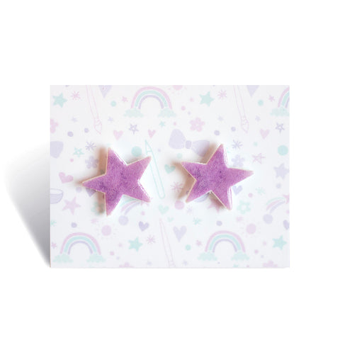Purple Star Earrings