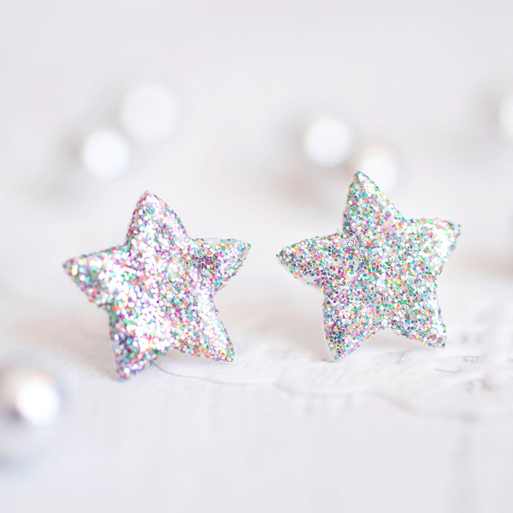 Star Glitter Earrings