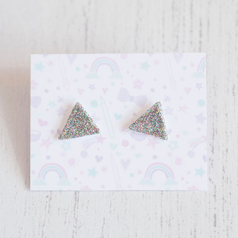 Triangle Glitter Earrings