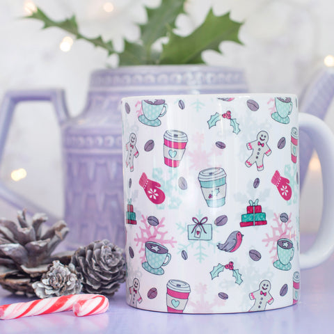 Latte like Christmas Pattern Mug