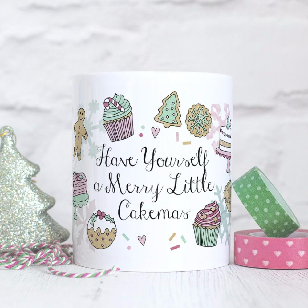 Merry Little Cakemas Quote Mug