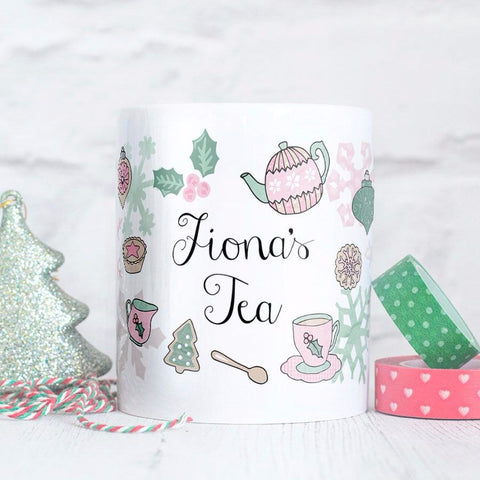 Personalised Christmas Tea Mug