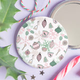 Oh Christmas Tea Pocket Mirror