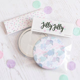 Flower Personalised Pocket Mirror