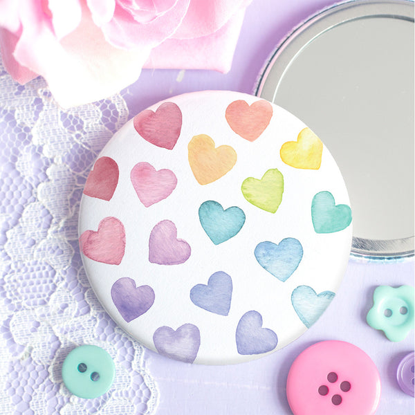 Rainbow Love Pocket Mirror