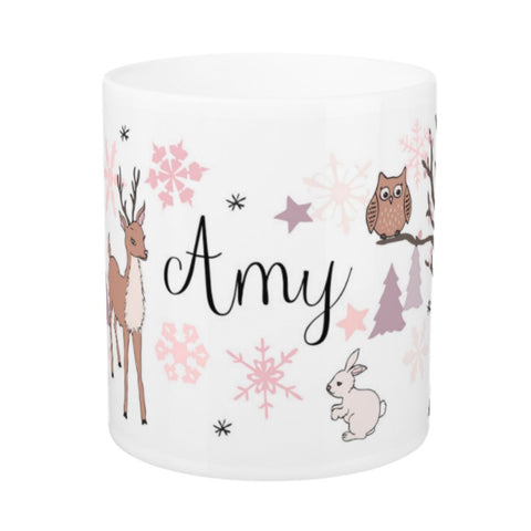 Personalised Winter Woodland Mug