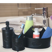 Load image into Gallery viewer, Black Metal Hinged Toothbrush Holder