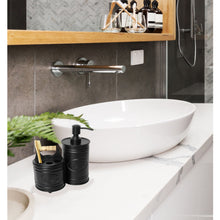 Load image into Gallery viewer, 2 Piece Black Bathroom Accessory Set
