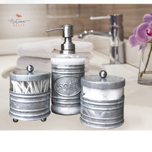 Load image into Gallery viewer, 3 Piece Galvanized Bathroom Accessory Set