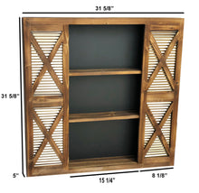 Load image into Gallery viewer, Barn Door Large Wall Shelf Storage