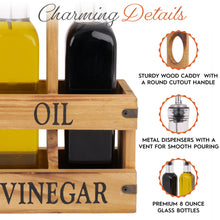 Load image into Gallery viewer, Olive Oil & Vinegar Caddy Set