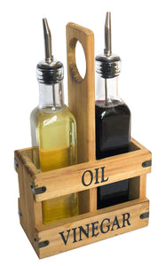 Olive Oil & Vinegar Caddy Set