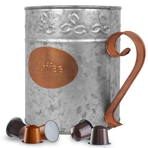 Galvanized Coffee Pod K-cup Holder