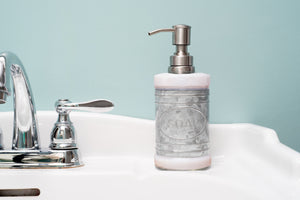 Glass and Galvanized Soap Dispenser