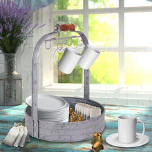 Load image into Gallery viewer, Galvanized Coffee Mug Rack Organizer
