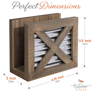 Barn Door Napkin Holder
