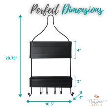 Load image into Gallery viewer, 2-Tier Black Hanging Shower Caddy