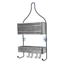 Load image into Gallery viewer, 2-Tier Galvanized Hanging Shower Caddy