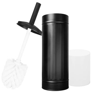 Black Metal Toilet Brush with Holder