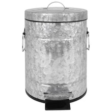 Load image into Gallery viewer, Galvanized Pedal Waste Bin