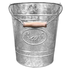 Load image into Gallery viewer, Galvanized Trash Pail