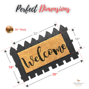 Rubber & Coir Welcome Mat with Replaceable Insert