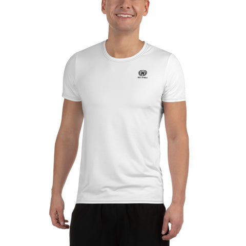 Men's Quick Dry T-Shirt Athletic Moisture-Wicking Dry Fit Running  T- Shirts