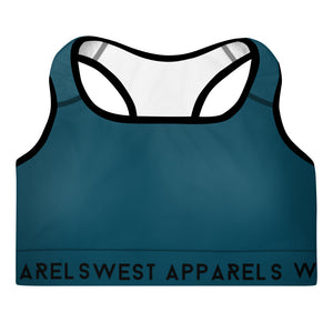West Apparels Women's Padded Compression Sports Bra