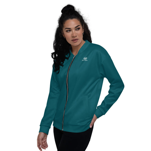 West Apparels Women's Classic Solid Zip up Bomber Jacket