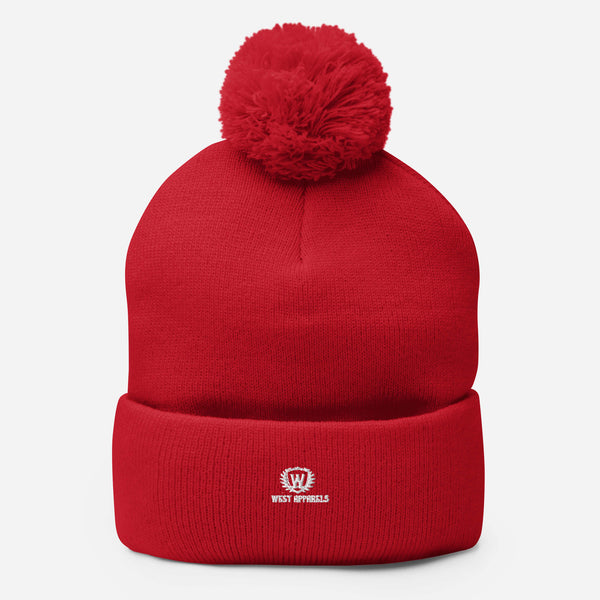 West Apparels Warm Fleece  Pom-Pom Beanie