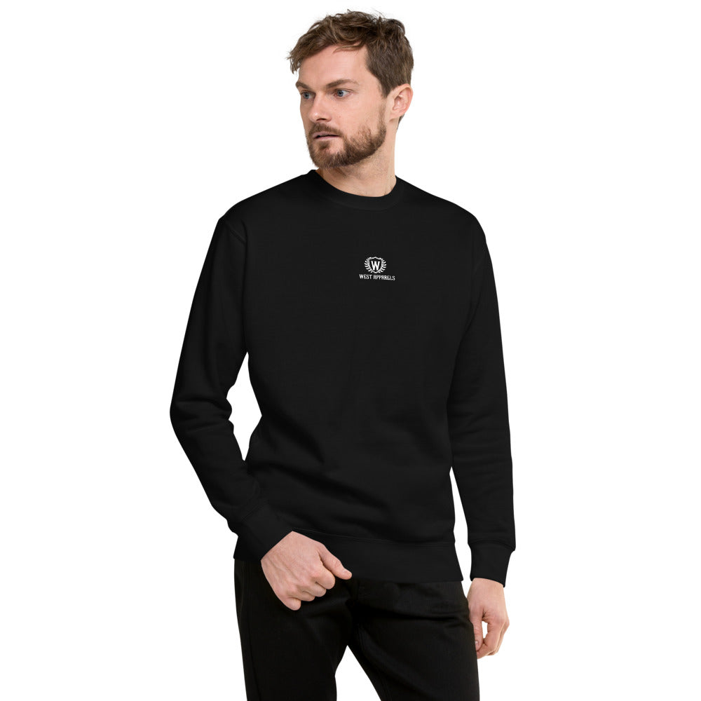 West Apparels Men's  Fleece Pullover Sweatshirt