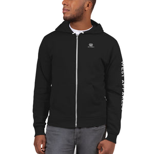 West Apparels Men's Full zip Up Fleece Hoodiesweater