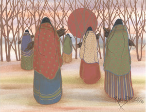NAVAJO WOMEN WITH WOOD