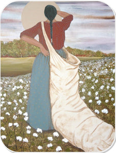 WOMAN IN COTTONFIELD