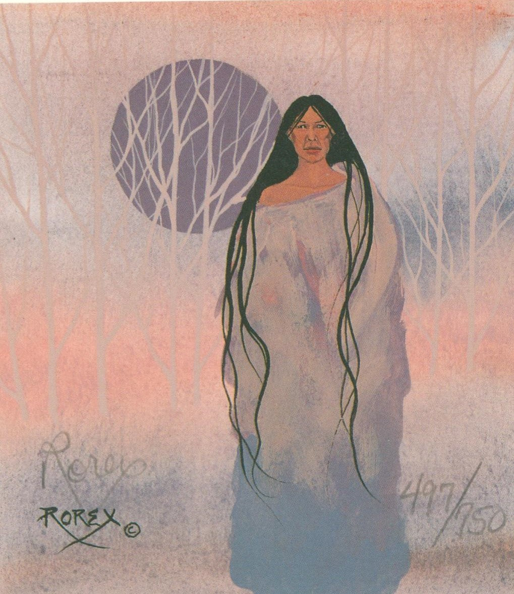 MISTY SCENE WITH LONG HAIR