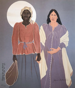 WOMEN HOLDING HANDS ON TRAIL OF TEARS