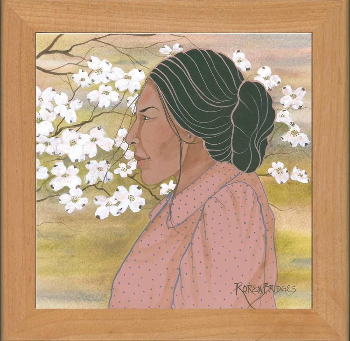 DOGWOOD BLOOMS INDIAN WOMAN