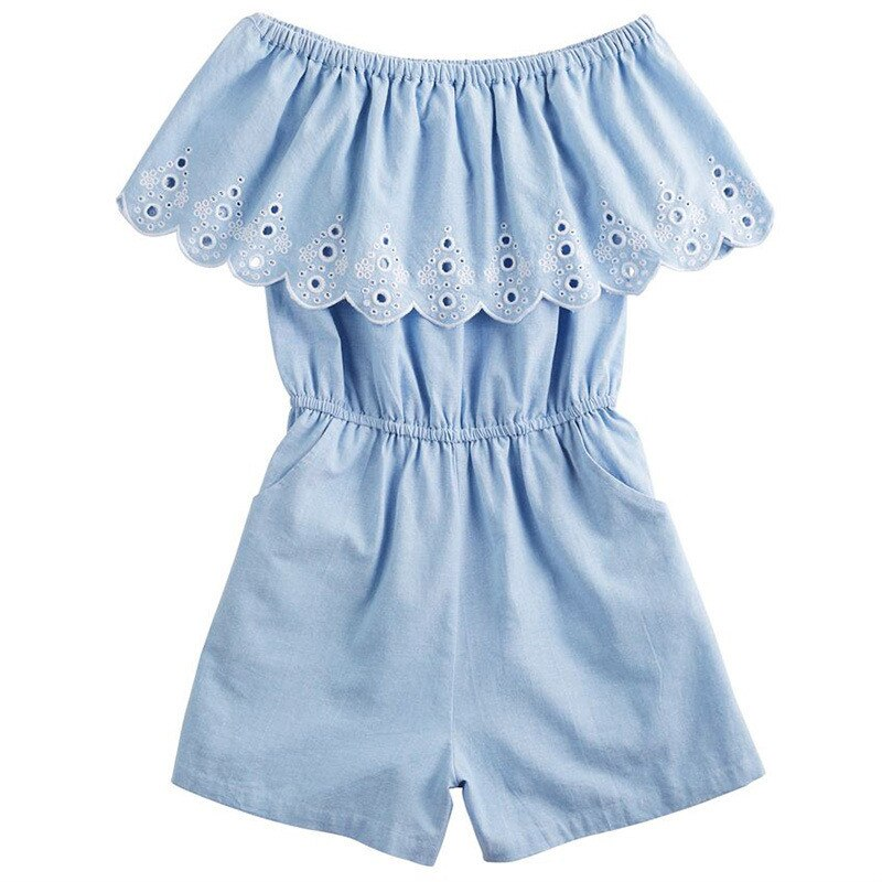 Ruffle My Denim dresses- Mommy and Me Romper