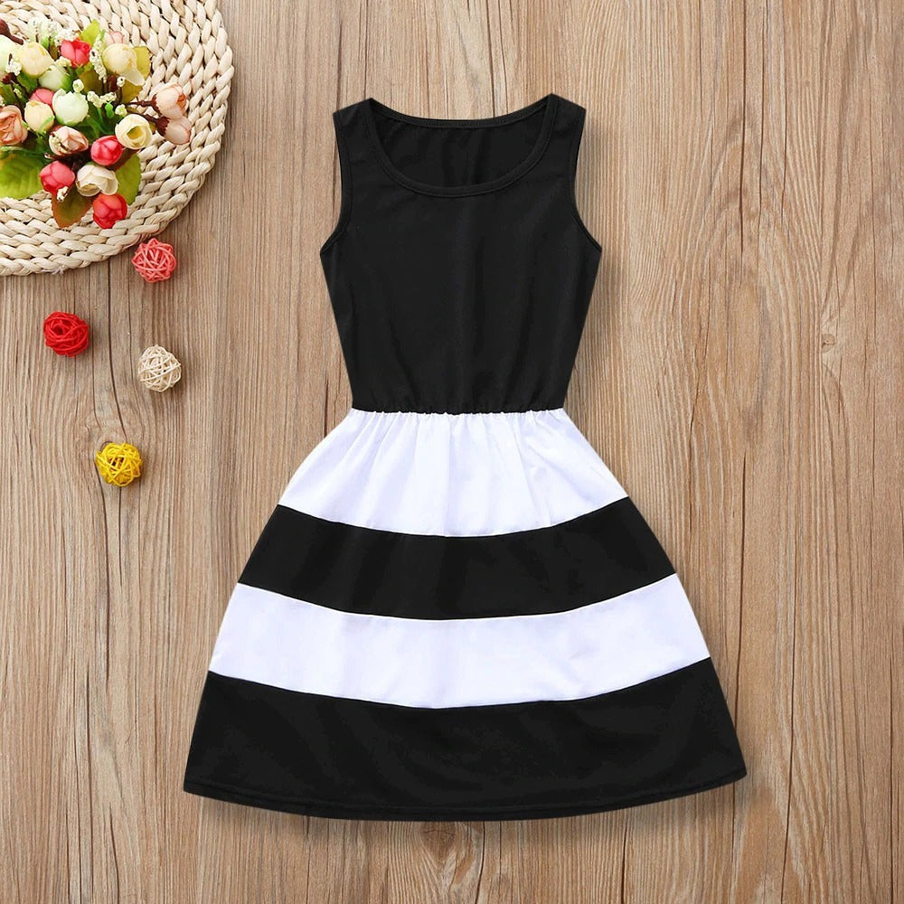Life is Better in Black and White dresses-Mommy & Me Dresses