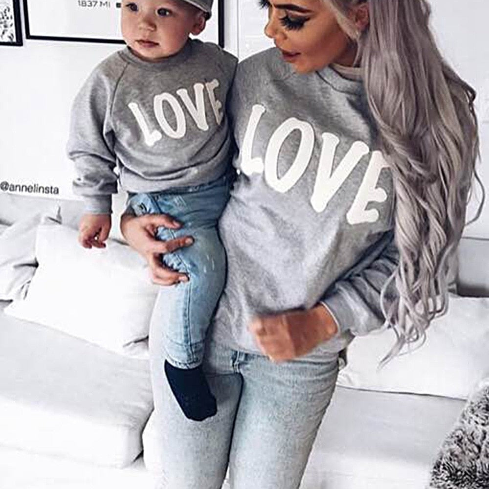 LOVE Sweater-Mommy and Me Sweater