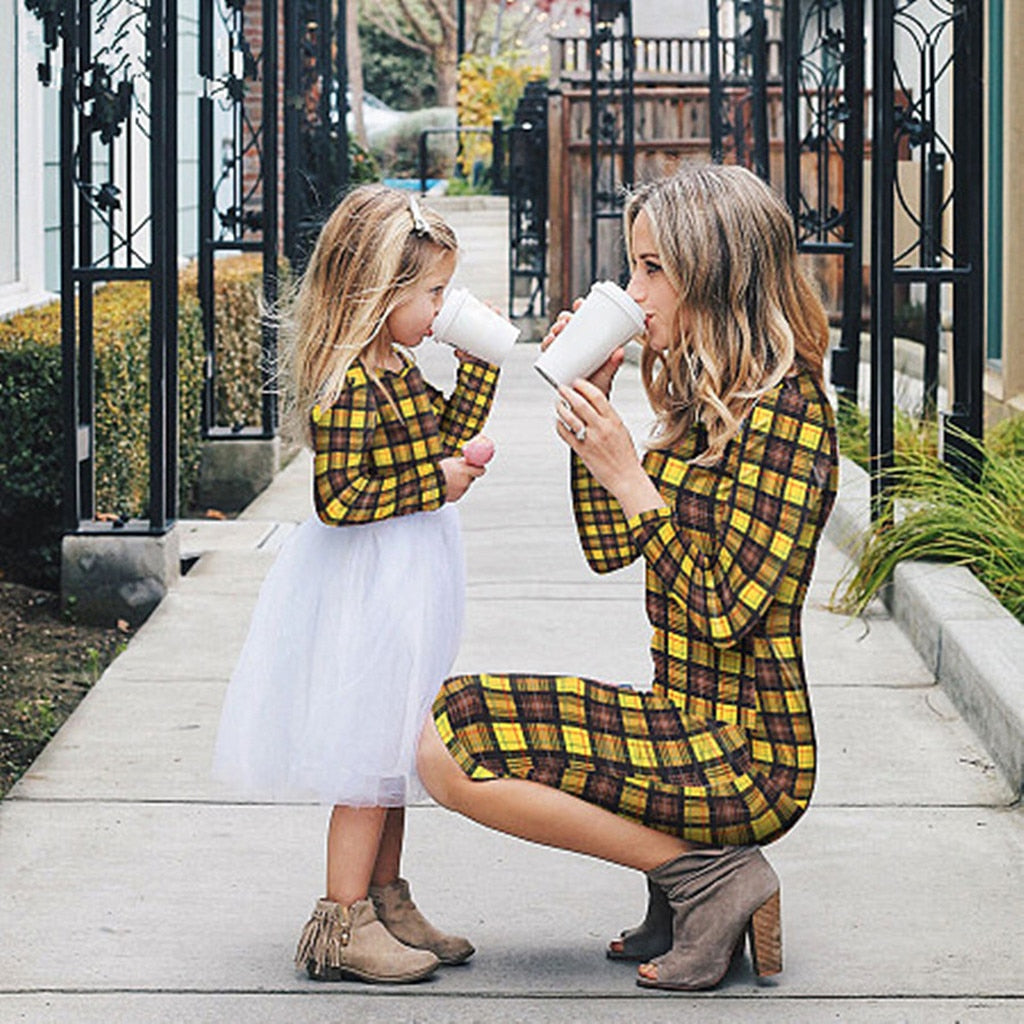 Mad about Plaid dresses-Mommy and Me Dresses