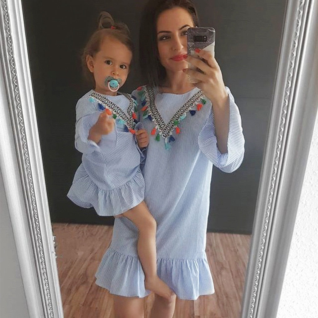 Tassel Town Dress- Mommy and Me Dresses