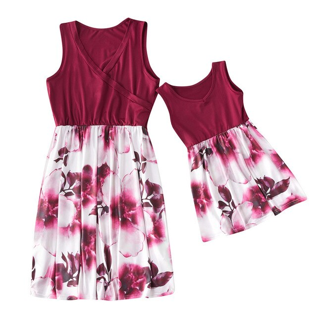 Maroon Magic Dress- Mommy and Me dresses
