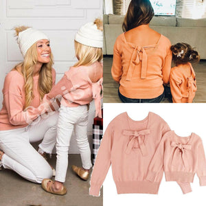 Bow-dacious- Mommy and Me Sweaters