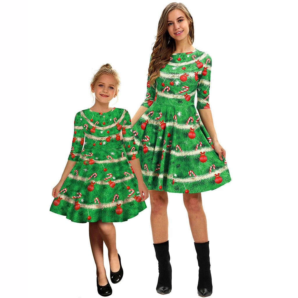 Christmas Tree O' Christmas Tree-Mommy and Me Dress